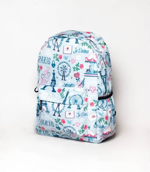 Rainbow Print Multiple Color Girls Backpack