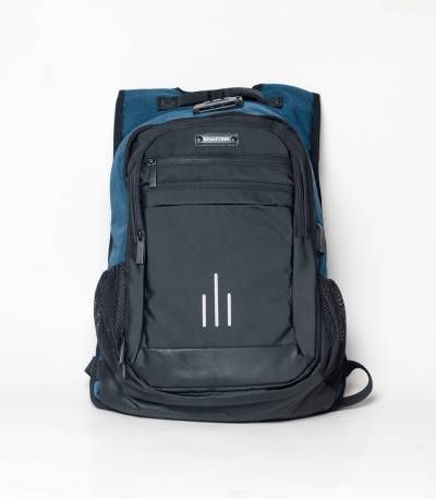 Space Trek Anti Theft Blue & Black Backpack
