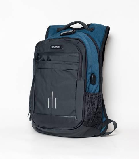 Space Trek Anti Theft Blue & Black Backpack