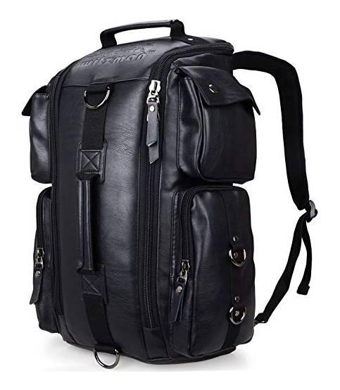 WITZMAN Convertible Rucksack Travel Backpack for Men