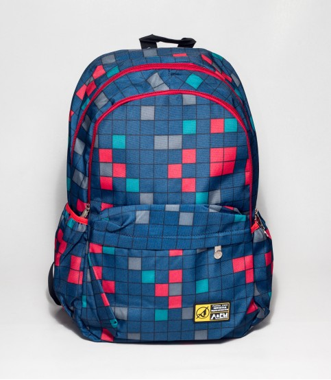 A&ME Blue Abstract Print Backpack