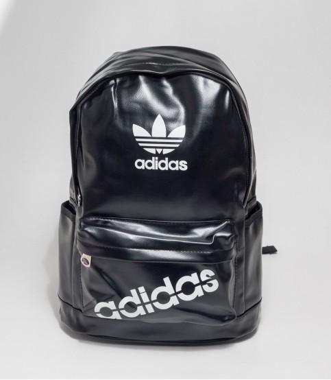 Adidas Black Rexine Backpack