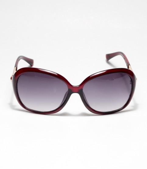 Oval Shape Redish ladies Sunglass
