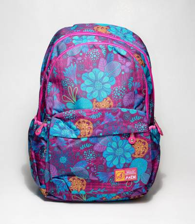 A&EM Floral Purple Color School / College Bag
