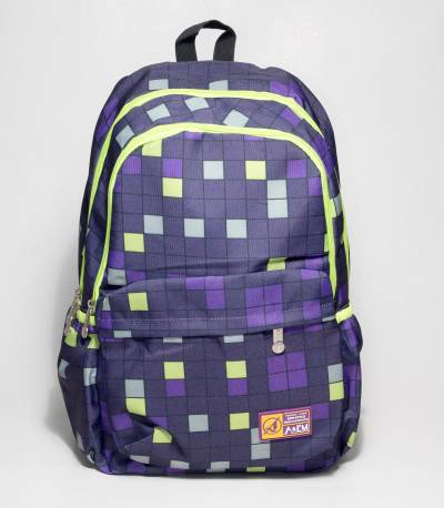 A&ME Purple Abstract Print Backpack