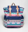 Blue Color Abstract Design School Bag