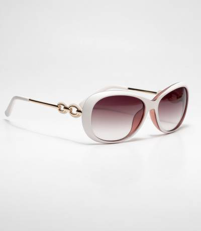 Kaizi White Medium Frame Ladies Sunglass