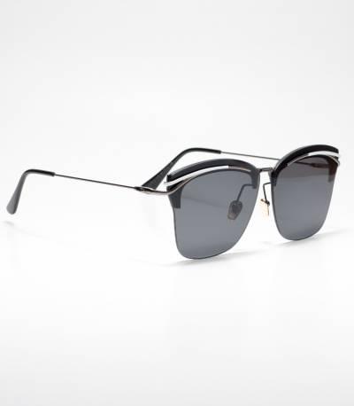 Gucci Rectangular-frame Black Ladies Sunglass