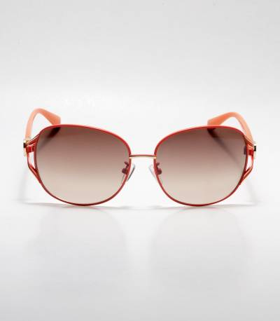 Gucci Orange Frame Oval Ladies Sunglass