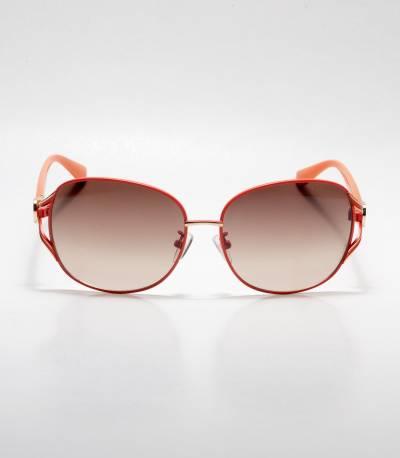 Gucci Orange Frame Oval Ladies Sunglass