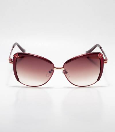 GUCCI Cat-eye Chocolate Ladies Sunglass