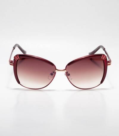 GUCCI Cat-eye Chocolate Ladies Sunglass