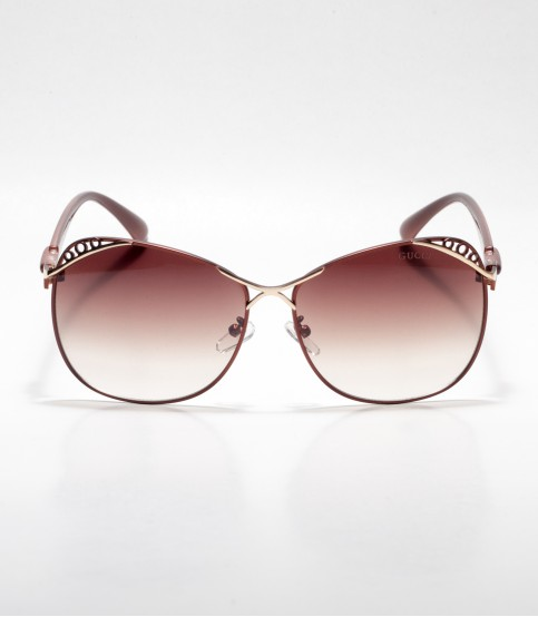 Gucci Designed Frame Brown Ladies Sunglass