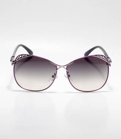 Gucci Designed Frame Purple Ladies Sunglass
