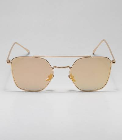 Golden Oval Shape Ladies Sunglass