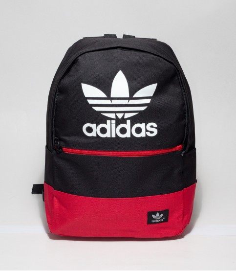 Adidas Black And Red Color Backpack With Adidas Logo