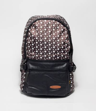 Brown School & College Backpack With Star