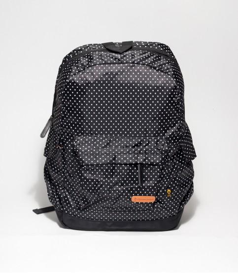 Black Backpack With Polka Dot