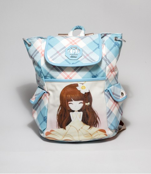 ZDL Sky Blue Backpack with Photo