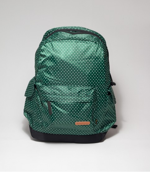 Green Backpack with Polka Dot