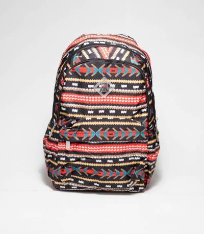 A&EM Black Floral Abstract Backpack