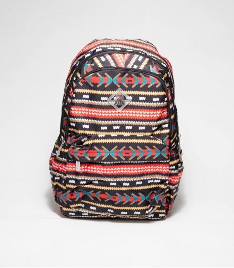A&EM Black Floral Abstract Backpack