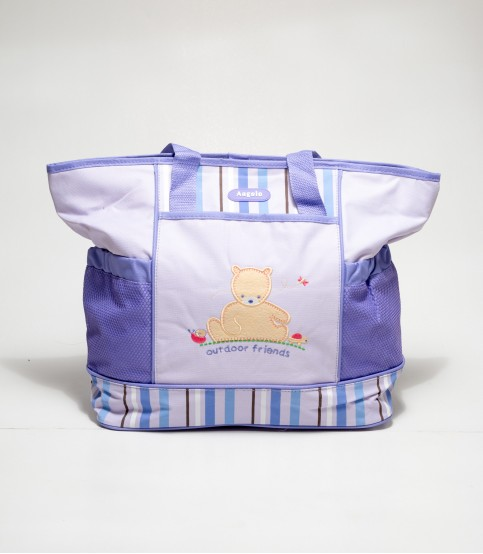 Angelo Bear Violate Color Baby Diaper Bags