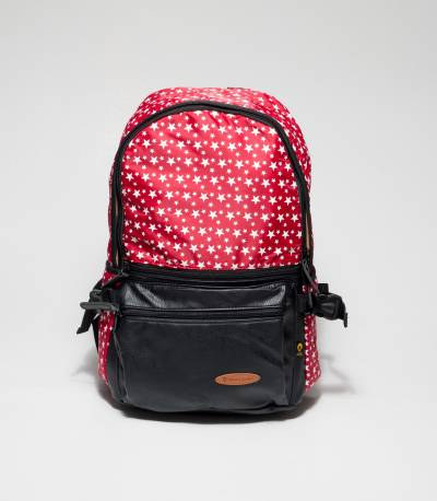 Red Backpack With Star