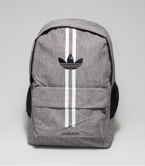 Adidas Double Stripes Gray Color Backpack