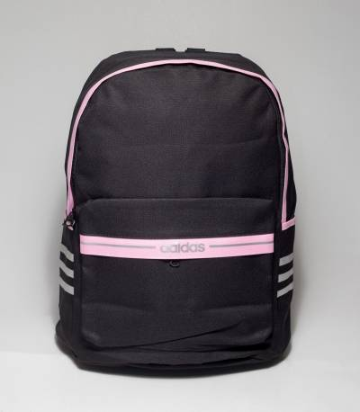 Adidas Pink Stripe Black Color Backpack