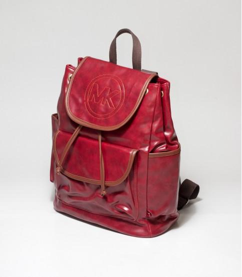 MK Maroon Color Backpack