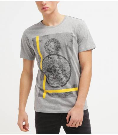 Only & Sons Printed Light Grey T-shirt