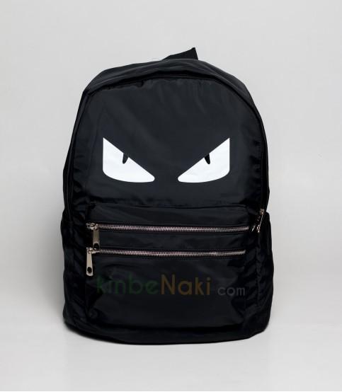 Eye Print Black Backpack