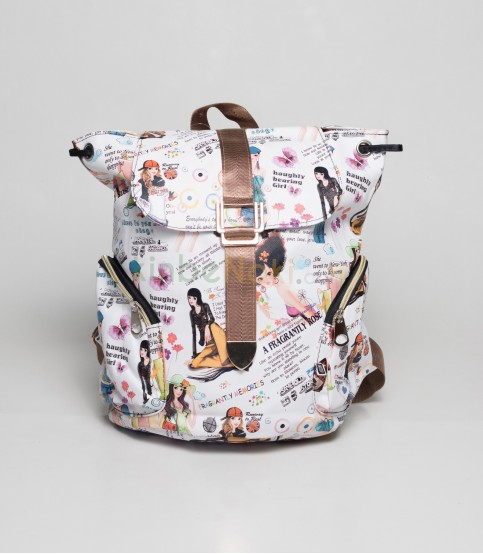 Beauty Girls White Backpack