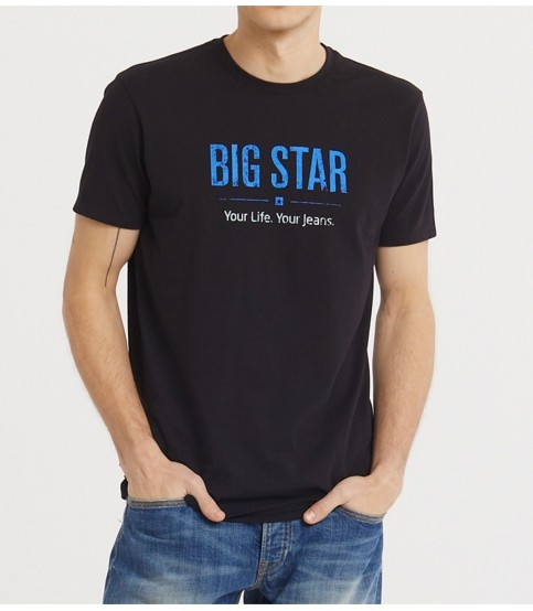 Big Star Black with Blue Text T-Shirt