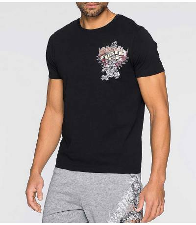 Tattoo Print Black T-Shirt