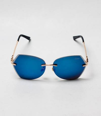 Carlier Blue And Golden Color ladies Sunglass
