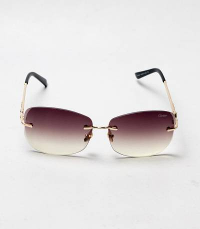 Carlier Brown And Golden Color version 2 ladies Sunglass