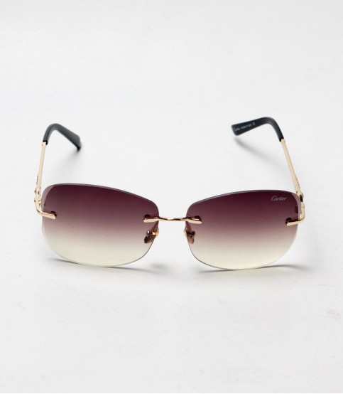 Carlier Brown And Golden Color ladies Sunglass