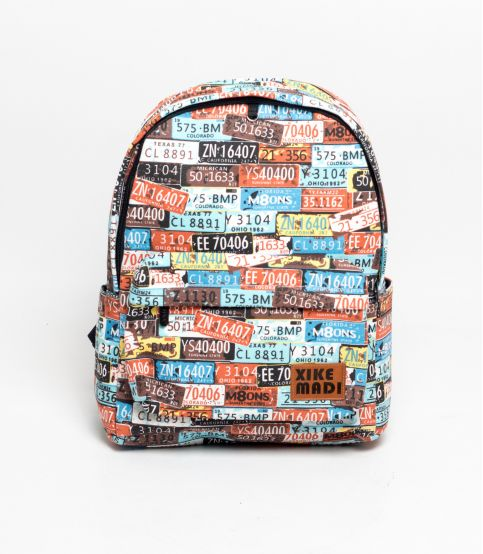 Xike Madi Number Plate Backpack