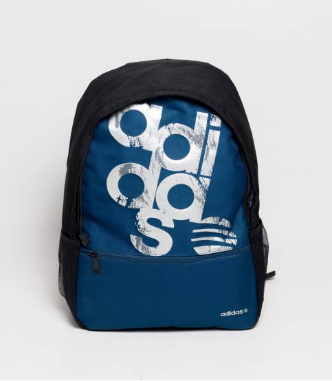 Adidas New Logo Black And Blue Backpack