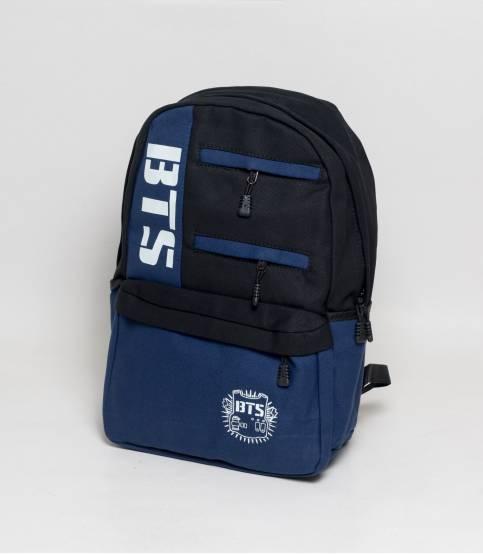 BTS Black And Blue Color Fabrics Backpack