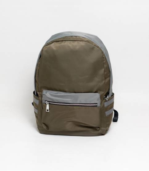 Fortune Double Stripe Olive Backpack