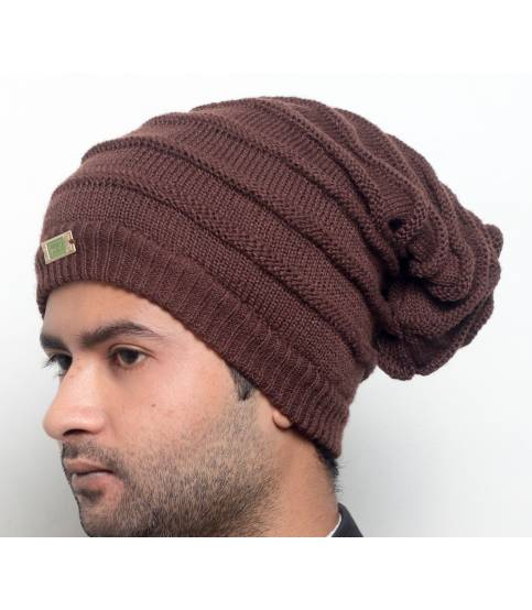Mens Brown Beanie