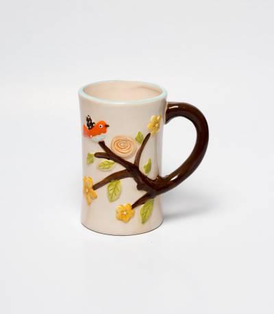 Tree And Bird Print Mug