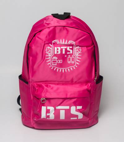 BTS Solid Pink Fabrics Backpack