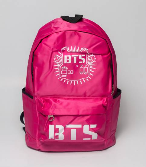 BTS Pink Solid Pink Backpack