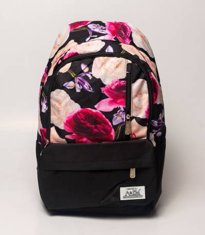 Xike Madi Pink Color Floral Girls Backpack