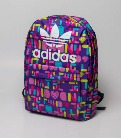 Adidas Purple Abstract Diamond Backpack