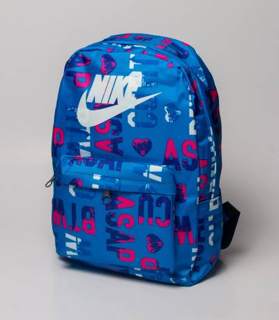 NIKE Blue Letter Backpack